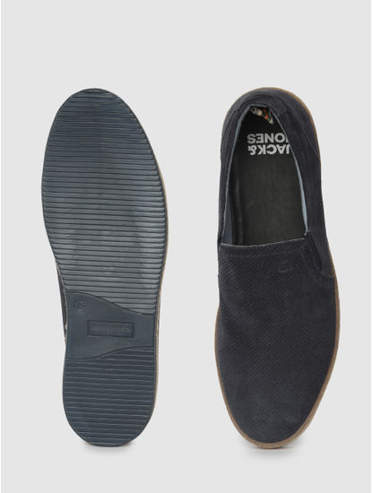 Blue Leather Espadrilles