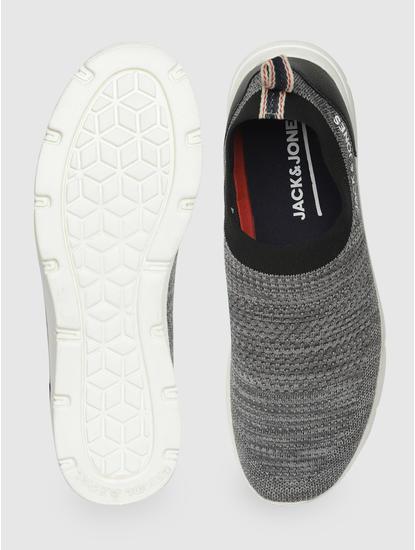 Grey Slip On Sneakers