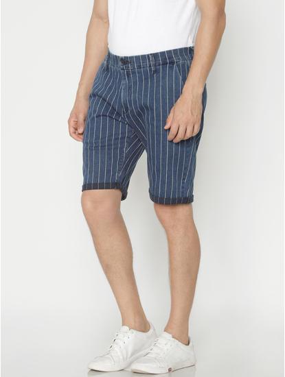 Blue Striped Shorts