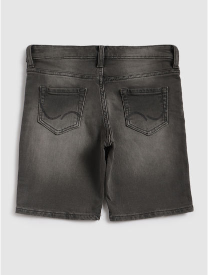 Junior Grey Denim Shorts