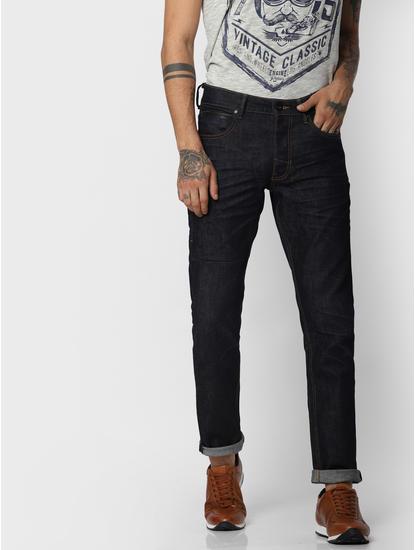 "Dark Blue ""Aqua Safe"" Glenn Slim Fit Jeans"