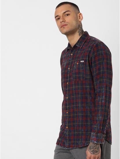 Red Check Full Sleeves Shirt