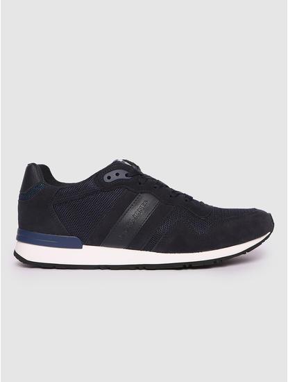 Navy Blue Colourblocked Sneakers