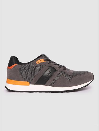 Grey Colourblocked Sneakers