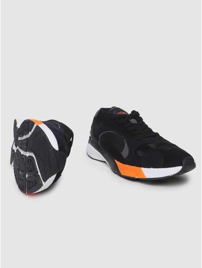 Black Colourblocked Trainers