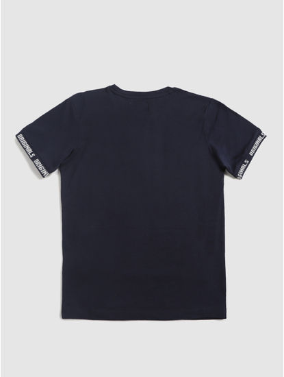 Junior Navy Blue Crew Neck T-Shirt
