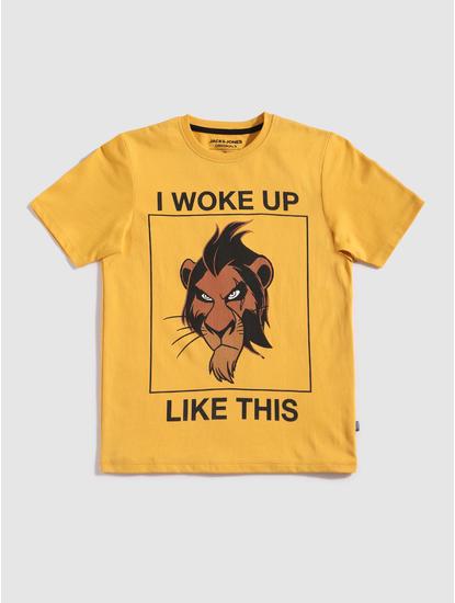 Junior X Lion King Yellow Scar Crew Neck T-Shirt