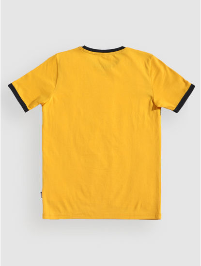 Junior Yellow Patch Print Crew Neck T-Shirt