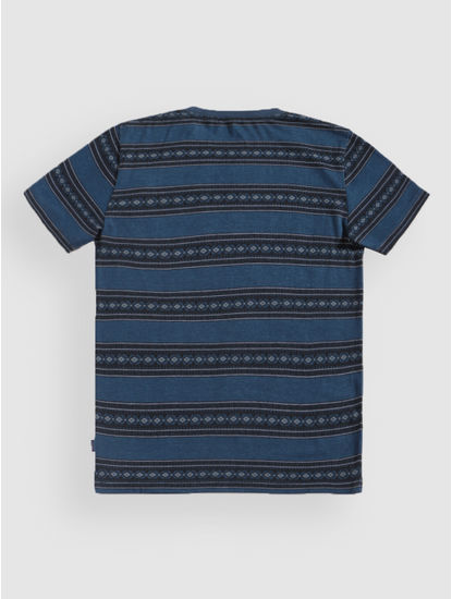 Junior Blue Striped Crew Neck T-Shirt