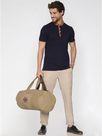 Navy Blue Contrast Tipping Polo T-Shirt