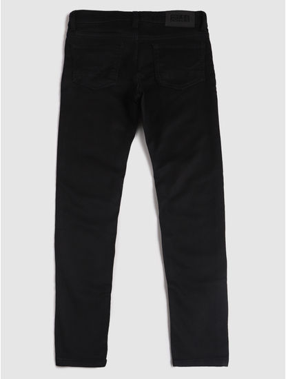 Junior Black Low Rise Glenn Slim Fit Jeans