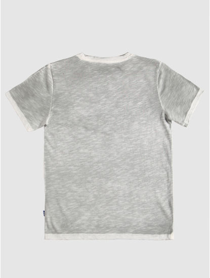 Junior Grey Logo Print Crew Neck T-Shirt
