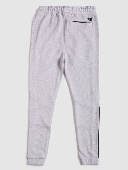 Junior Grey Patch Print Sweatpants