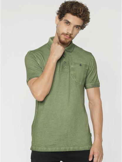 Green Polo Neck T-shirt