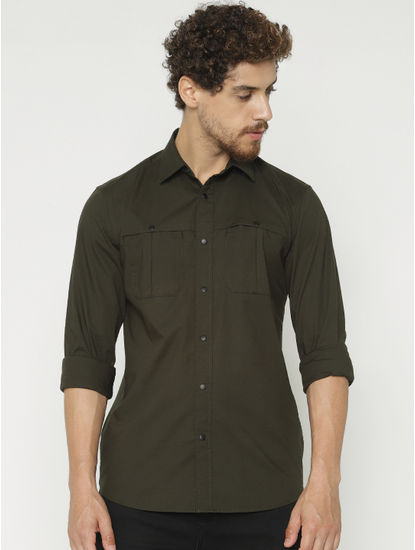 Green Full Sleeves Shirt