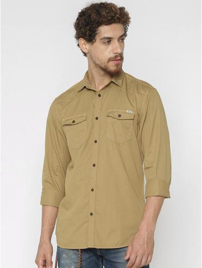 Brown Full Sleeves Shirt