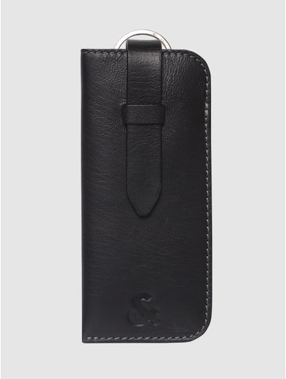 Black Leather Eyewear Case