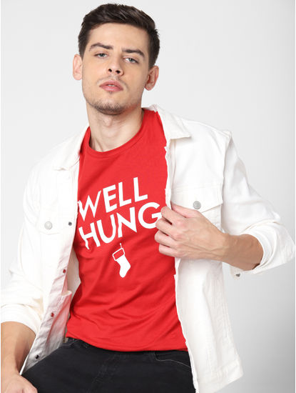 Red Well Hung Crew Neck T-Shirt