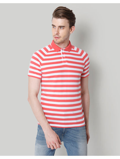 Rose Striped Polo T-Shirt