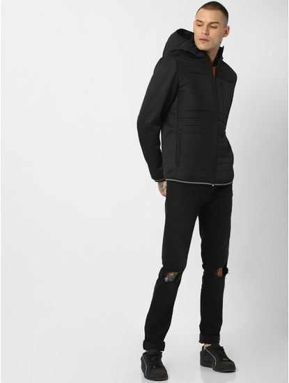 Black Hooded Puffer Jackets