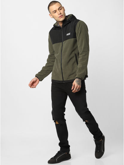 Green Hooded Fleece Jacket