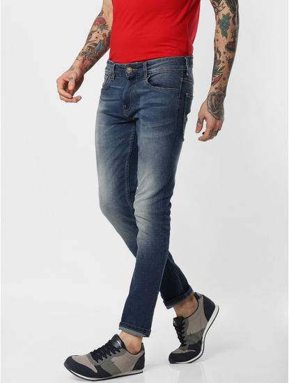 Blue Low Rise Glenn Slim Fit Jeans