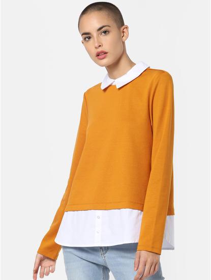 Yellow Shirt Insert Top
