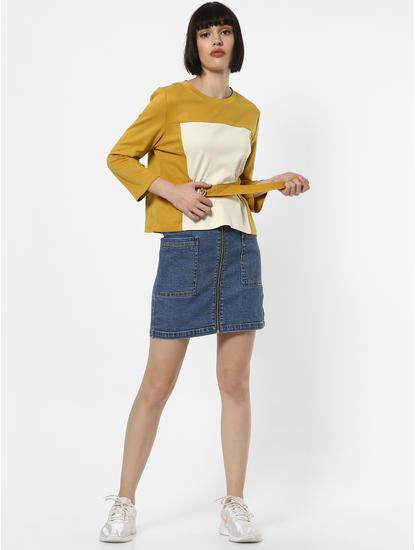 Mustard Belted T-shirt
