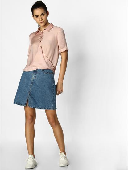 Pink Satin Shirt