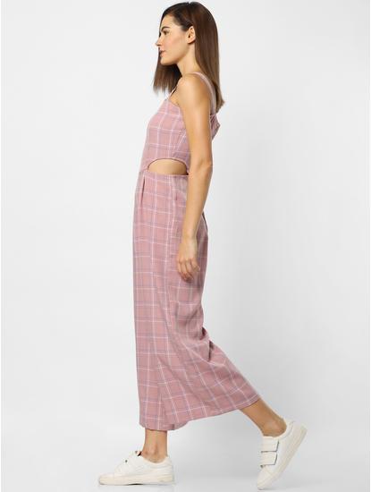 Pink Check Jumpsuit