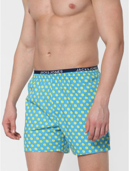 Light Blue Tennis Ball Print Boxers