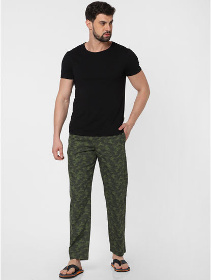 Green Camo Print Pyjama