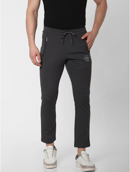 Dark Grey Side Zip Trackpants