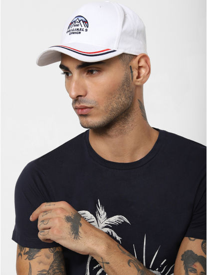 White Snapback Cap