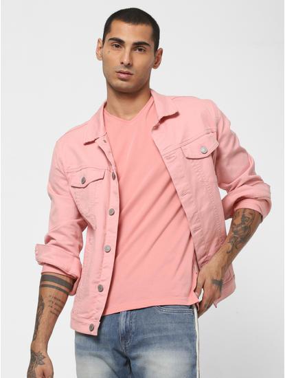 Pink V Neck T-SHIRT