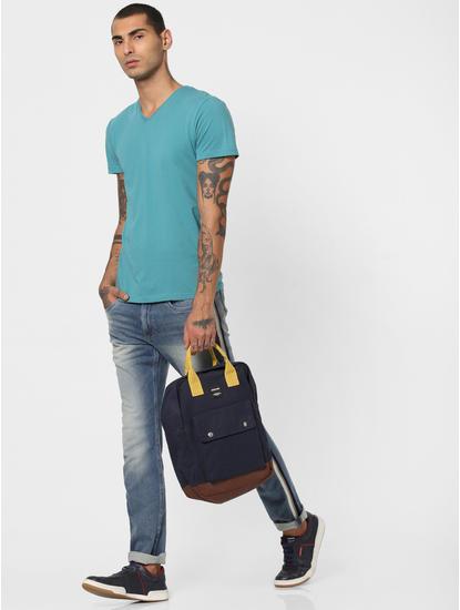 Turquoise V Neck T-shirt