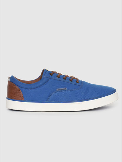 Blue Contrast Lace Sneakers