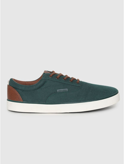 Green Contrast Lace Sneakers