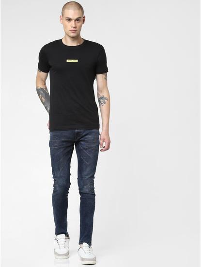 Dark Blue Low Rise Distressed Liam Skinny Jeans