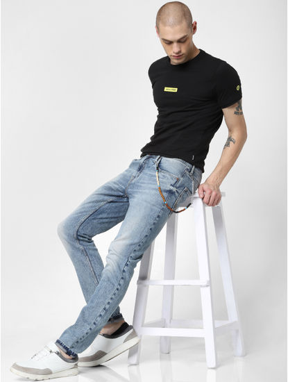 Blue Low Rise Washes Ben Skinny Jeans