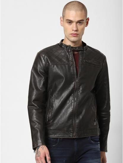 Chocolate Brown Bomber Jacket