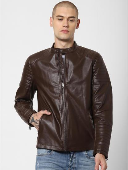 Dark Brown Perforated Jacket