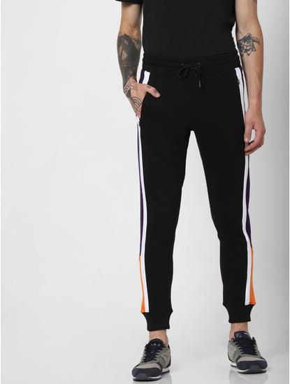 Purple Colourblocked Slim Sweatpants