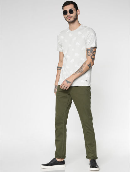 Light Grey All Over Print T-Shirt