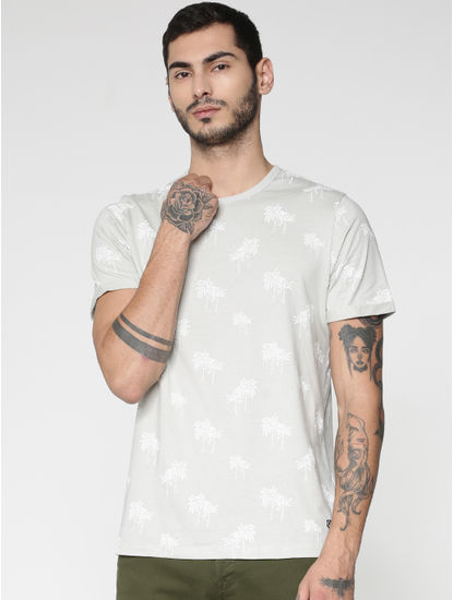 Light Grey All Over Print T-Shirt