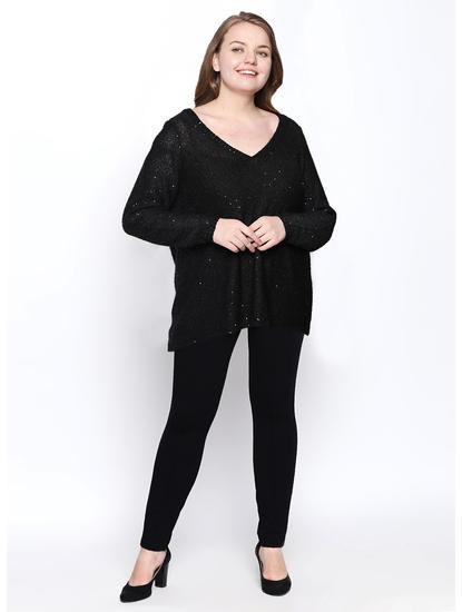 Black Embellished Pullover