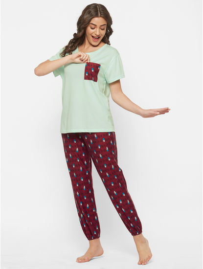 Chic Cotton Cactus Print Pyjama Set