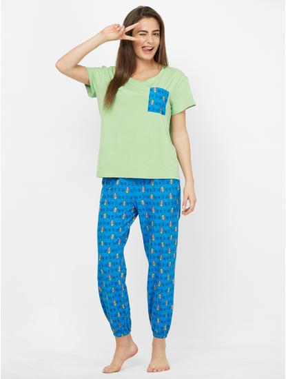 Cute Cactus Print Pyjama Set