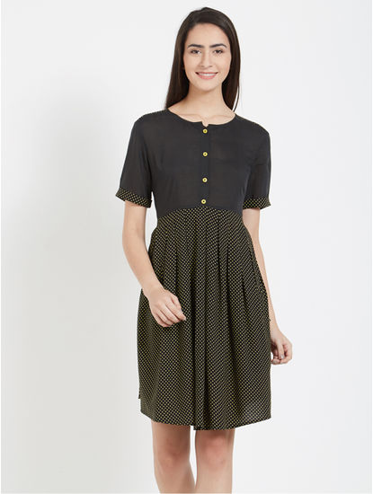 Polka Print Short Dress