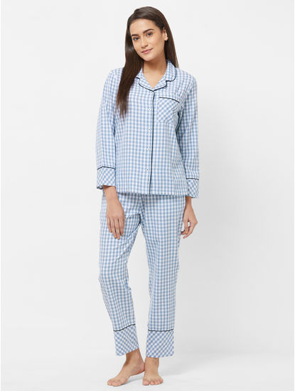 Checked Shirt Pyjama Set